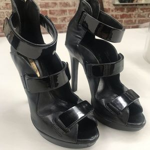 Bang black sandal heels